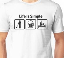 Funny Metal Detecting Life Is Simple T Shirt Unisex T-Shirt
