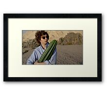michael cera and cactus  Framed Print