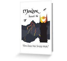 Mordor 5k Greeting Card