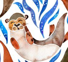 Five Otters – Blue Palette Sticker