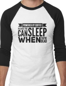 Powered by Coffee Men's Baseball ¾ T-Shirt