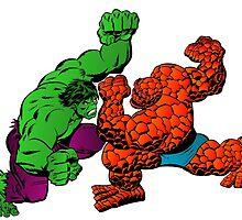The Hulk vs The Thing by gamac74
