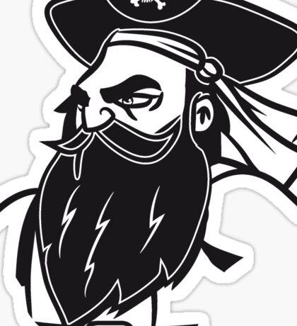 Pirat cool dreispitz kapitän  Sticker