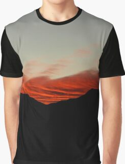 Red Clouds Graphic T-Shirt