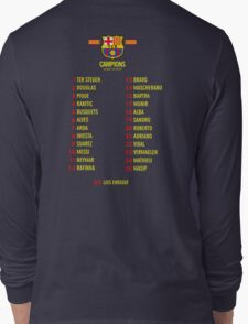 Barcelona players champions Long Sleeve T-Shirt