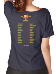 Barcelona players champions Women's Relaxed Fit T-Shirt