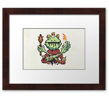 Frog King Framed Print