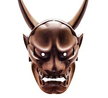 Hannya Japanese demon wooden mask art photo print by ArtNudePhotos