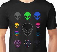 Alien Faces Unisex T-Shirt