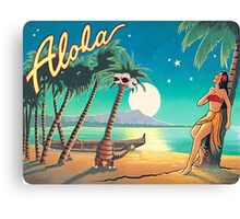 Greetings from Alola Canvas Print