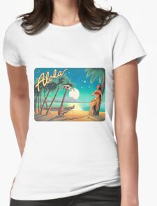 Greetings from Alola Womens Fitted T-Shirt
