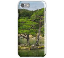 Pine trees at Japanese garden in Kyoto art photo print iPhone Case/Skin