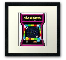 Pac Woman Framed Print