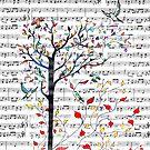 Songbirds in a Tree by Robin Monroe