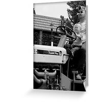 Canonsburg, PA: Drivin' Dad's Tractor Greeting Card