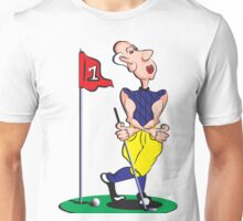 Cartoon Golfer Unisex T-Shirt