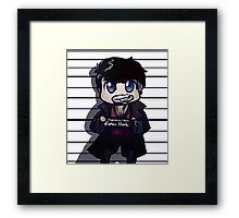 Captain Hook Mug Shot Framed Print