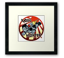 Kaiju Hunter Framed Print