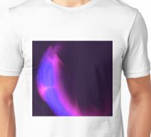 Purple and Blue Flame Fractal design - Titled Purple Wave Unisex T-Shirt