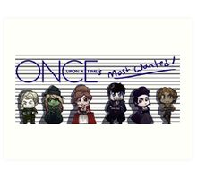 Once Upon A Time's Most Wanted Art Print