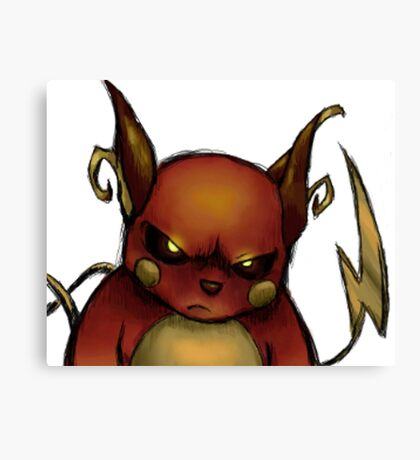 pokemon custom riachu awesome Canvas Print