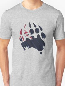 Oz Bear paw - true blue flag T-Shirt