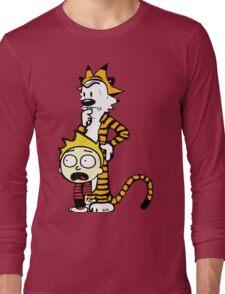 Rick and Morty, Calvin and Hobbes, Mashup Long Sleeve T-Shirt