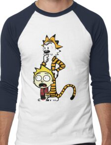 Rick and Morty, Calvin and Hobbes, Mashup Men's Baseball ¾ T-Shirt