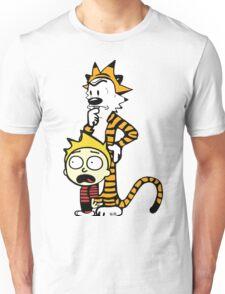 Rick and Morty, Calvin and Hobbes, Mashup Unisex T-Shirt