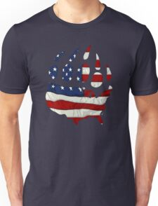 USA flag bear paw Unisex T-Shirt