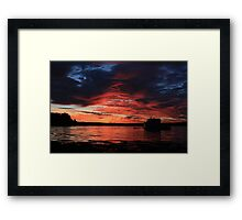 Sunrise at the shore Framed Print