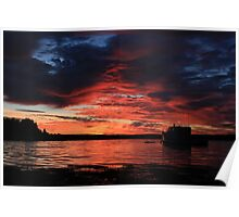 Sunrise at the shore Poster