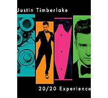 Justin Timberlake 20/20 Experience in Lighter Colors Photographic Print