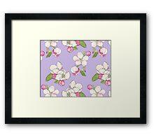 Apple Blossom Pattern Framed Print