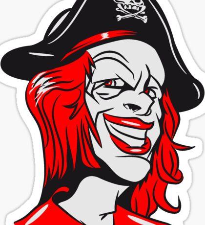 Pirat cool dreispitz clown  Sticker