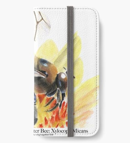 Male Southern Carpenter Bee iPhone Wallet/Case/Skin