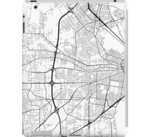Mobile Map, USA - Black and White iPad Case/Skin