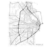 Mobile Map, USA - Black and White Photographic Print