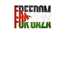 Freedom For Gaza Photographic Print