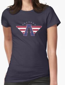 American Flag - Bear logo Womens Fitted T-Shirt