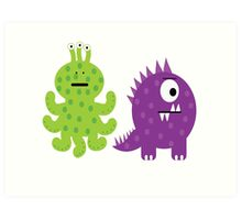 Complementary Monsters! Art Print