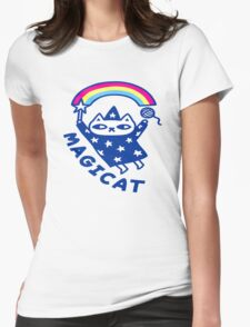 meow wizard  Womens Fitted T-Shirt