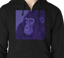 Violet Gorilla Zipped Hoodie