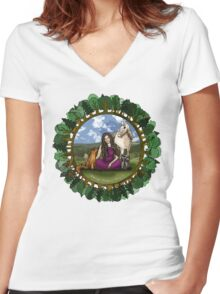 30 Days of Spiritual Wildness Women's Fitted V-Neck T-Shirt
