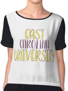 East Carolina University Chiffon Top
