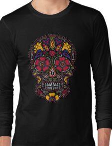 Day of the Dead Sugar Skull Dark Long Sleeve T-Shirt