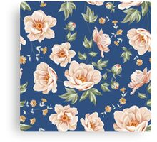 Floral tile pattern for vintage design Canvas Print