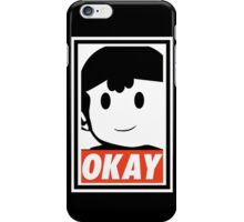 """Ness OKAY (""""OBEY"""") iPhone Case/Skin"""