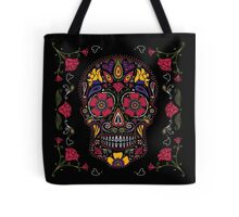 Day of the Dead Sugar Skull Dark Tote Bag