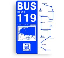 Bus Route for Silent Hill  Canvas Print